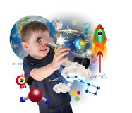 http://www.dreamstime.com/stock-image-science-boy-exploring-learning-space-image23079091